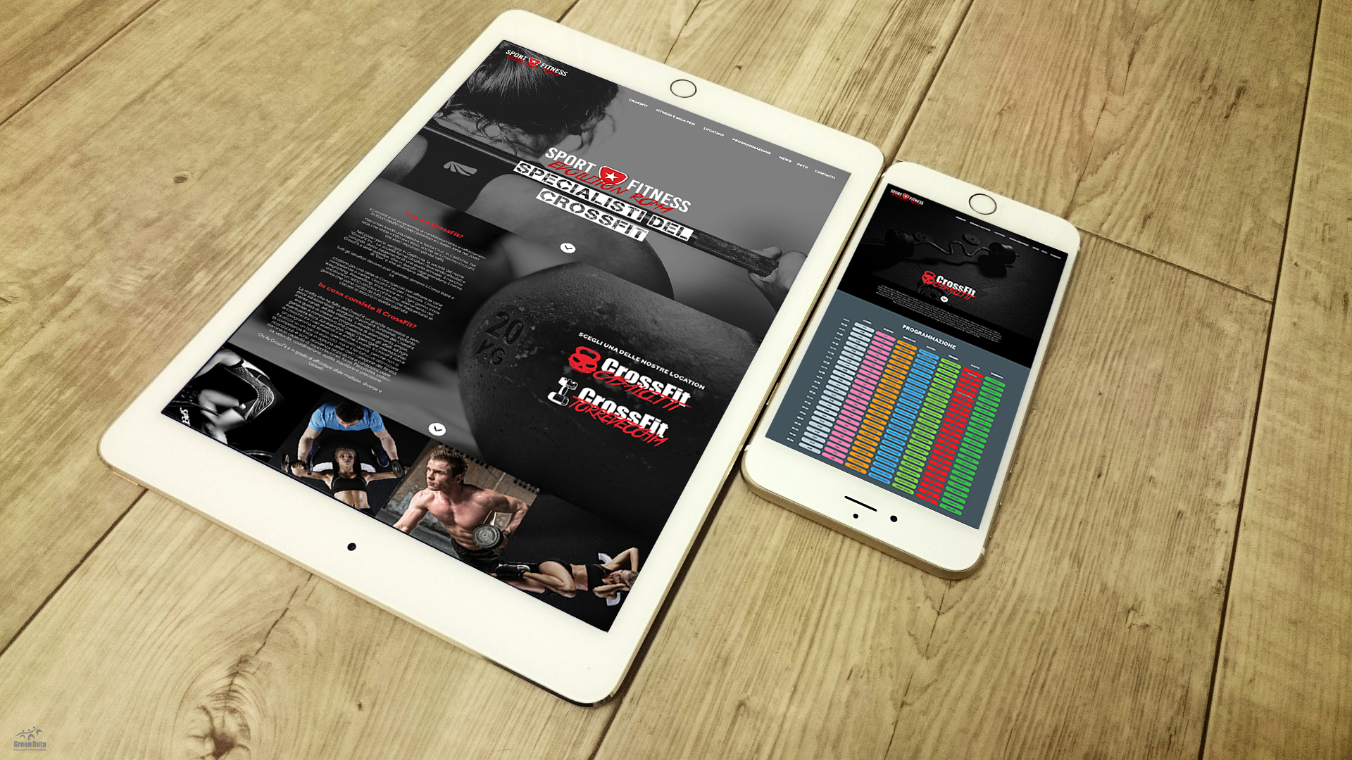 Sito web content managment sport and fitness